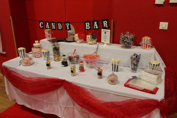 Sur quoi avez vous d poser votre candy bar d coration for Quoi mettre sur une table basse