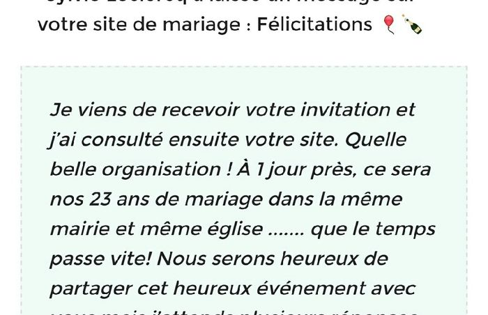 Réponse via site mariage.net 4