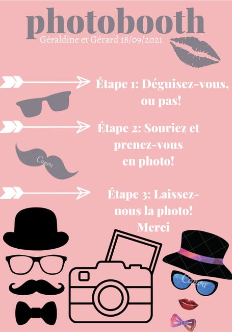 Affiche pour photobooth 1
