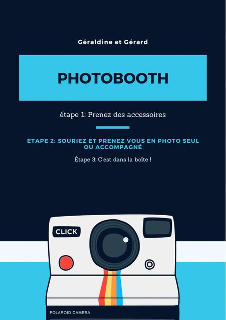 Affiche pour photobooth 3
