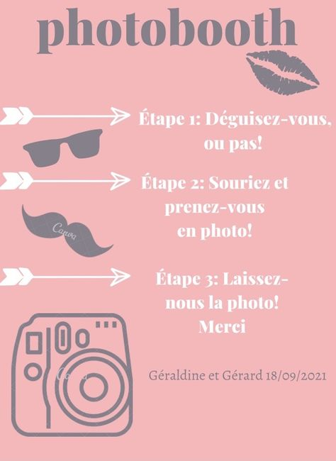 Affiche pour photobooth 10
