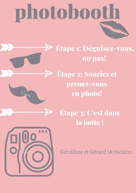 Affiche pour photobooth 6