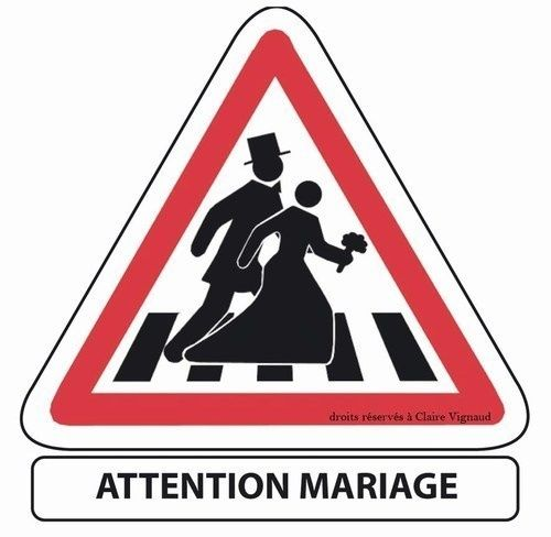 Panneau mariés