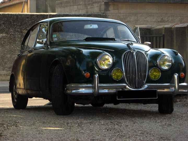 Voiture du mariage : la jaguar MK2 de 1964