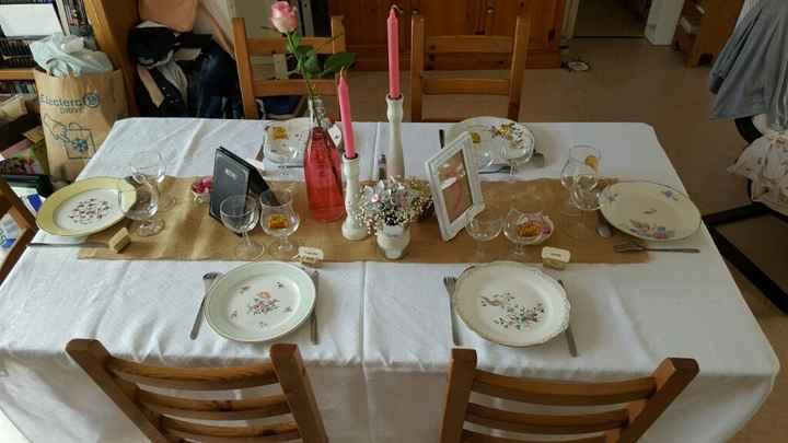 Ma déco de table diy vintage campagne - 1