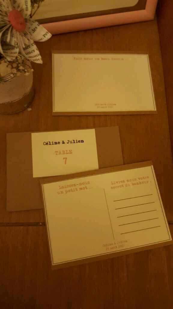 Plan de table et livre d'or diy vintage chic - 2