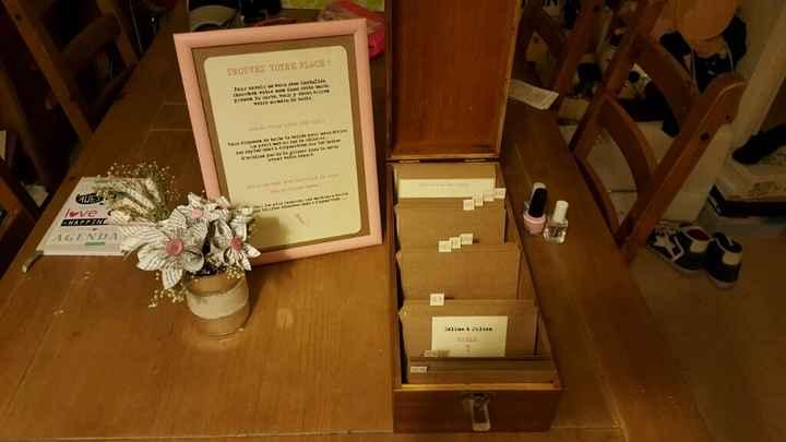 Plan de table et livre d'or diy vintage chic - 4