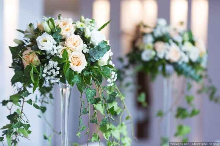 Idée centre de table des mariés et témoins