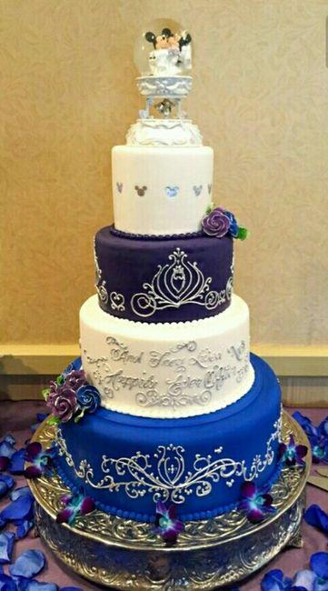 Gâteau de mariage thème disney , 5