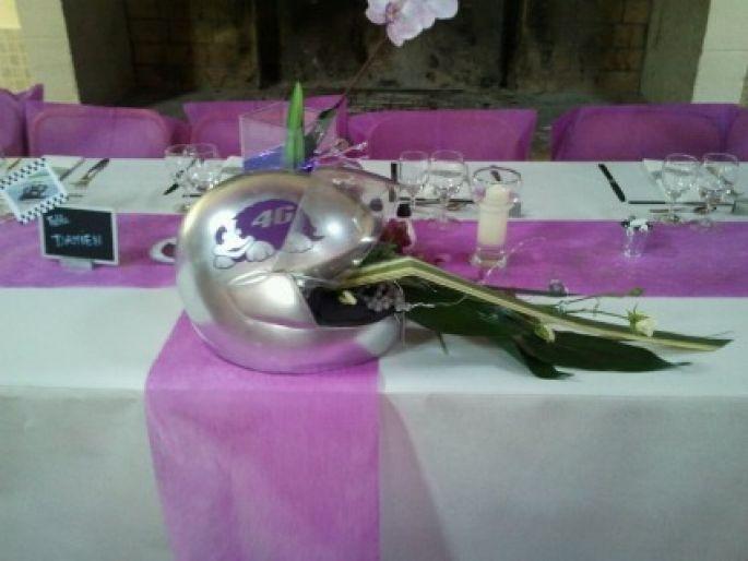decoration mariage moto
