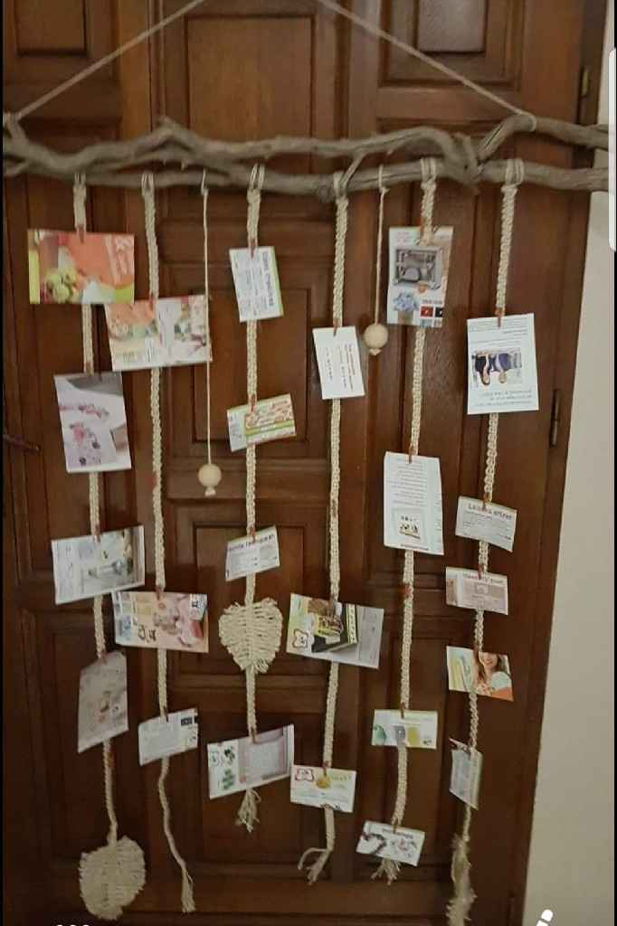 Porte photos en Macrame - 1