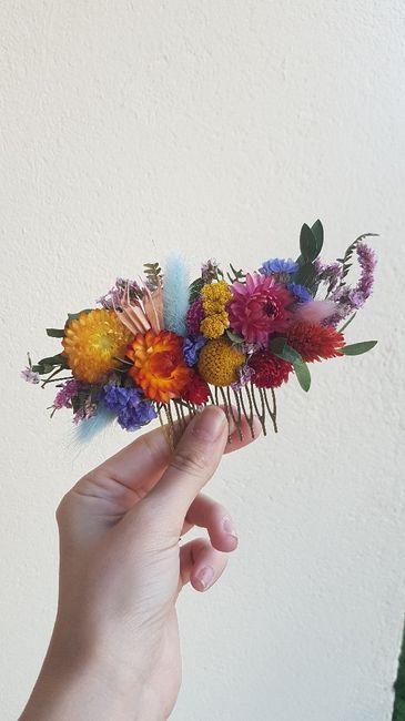 Peigne en fleur stabilisés 2