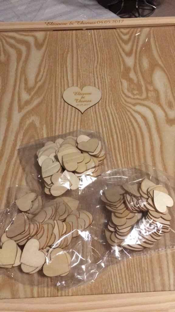 Livre d or coeurs en bois commandé sur aliexpres - 1