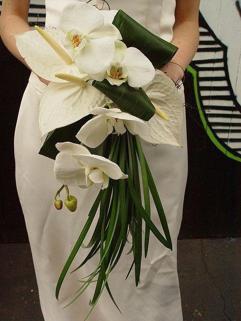 Bouquet mariée fleurs exotiques 2