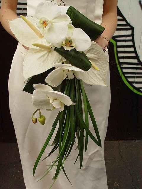 Bouquet mariée fleurs exotiques - 2