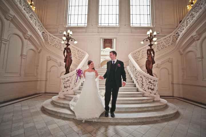 Photos de couple à la mairie