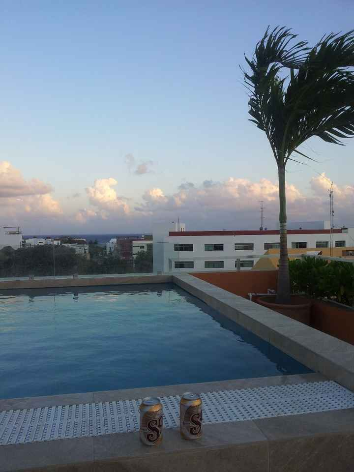 La piscine de notre hotel à Playa del Carmen