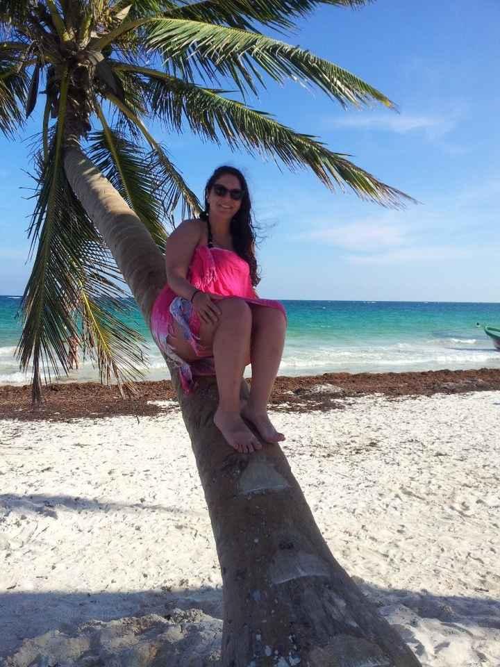 Sur la plage de Tulum