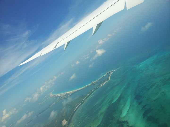 Vue sur Cancun depuis l'avion