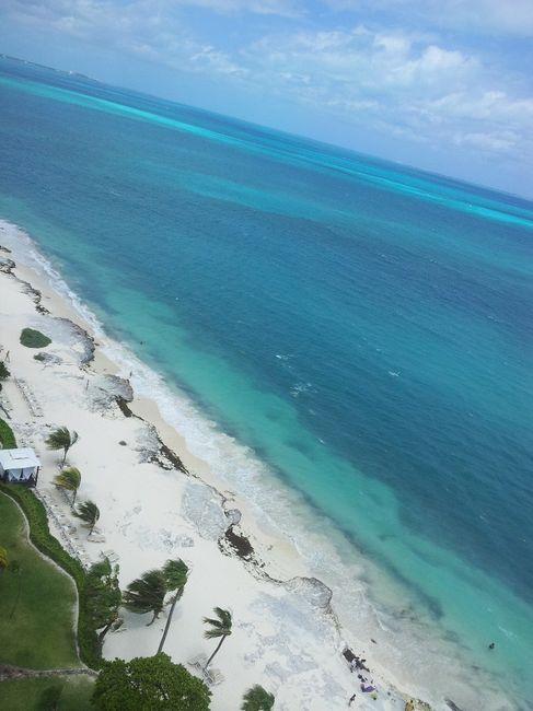 Vue de notre hotel à Cancun