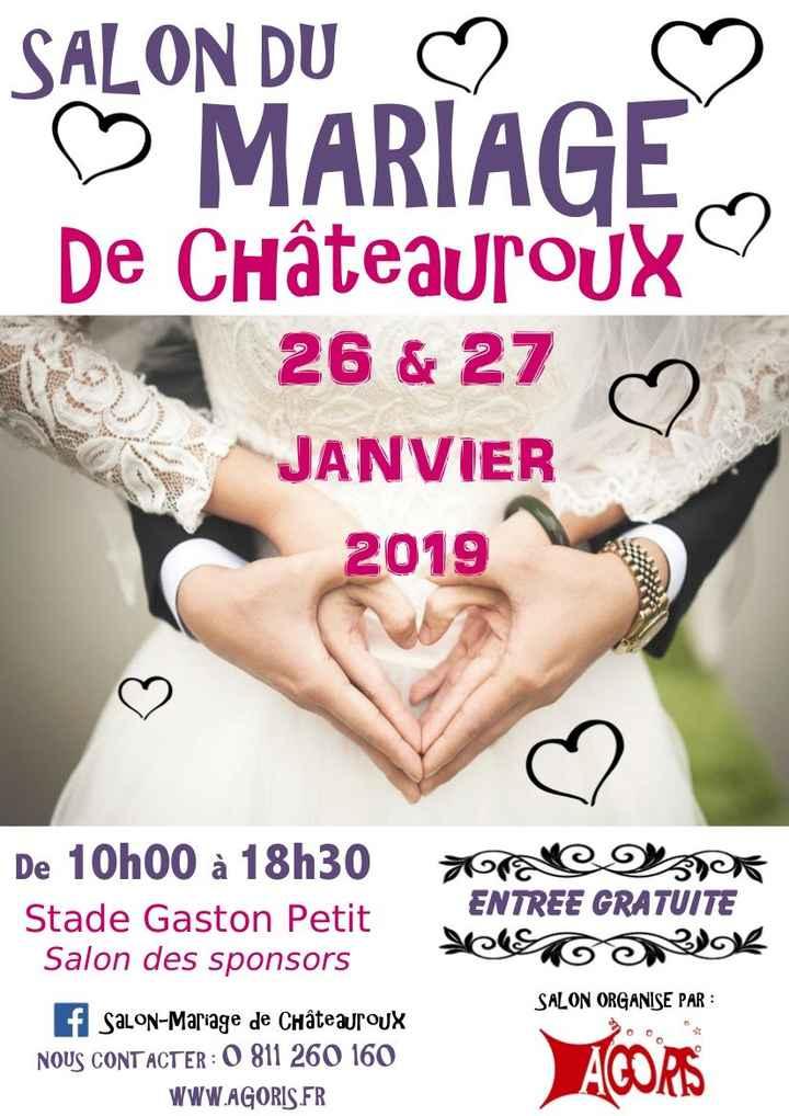 Affiche salon du mariage de Châteauroux 2019