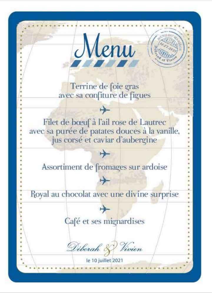 Nombres de menus par table 1