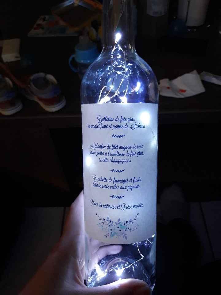 Mes menus bouteille 😍 - 1