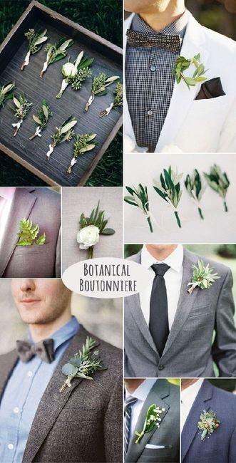 Inspiration Boutonnières pour nos mariés 19