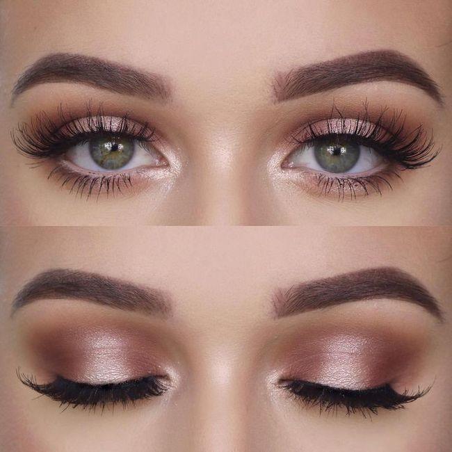 Maquillage yeux bleu/vert 16