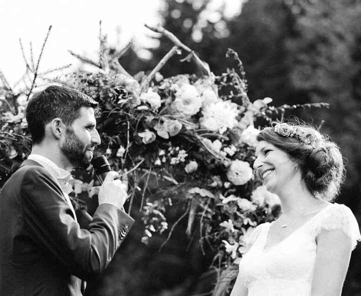 Les mariés lors de nos voeux