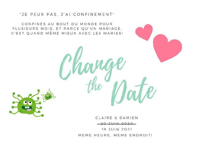 Change the date : Comment vous gérez entre l'ancienne et la nouvelle date ? - 1