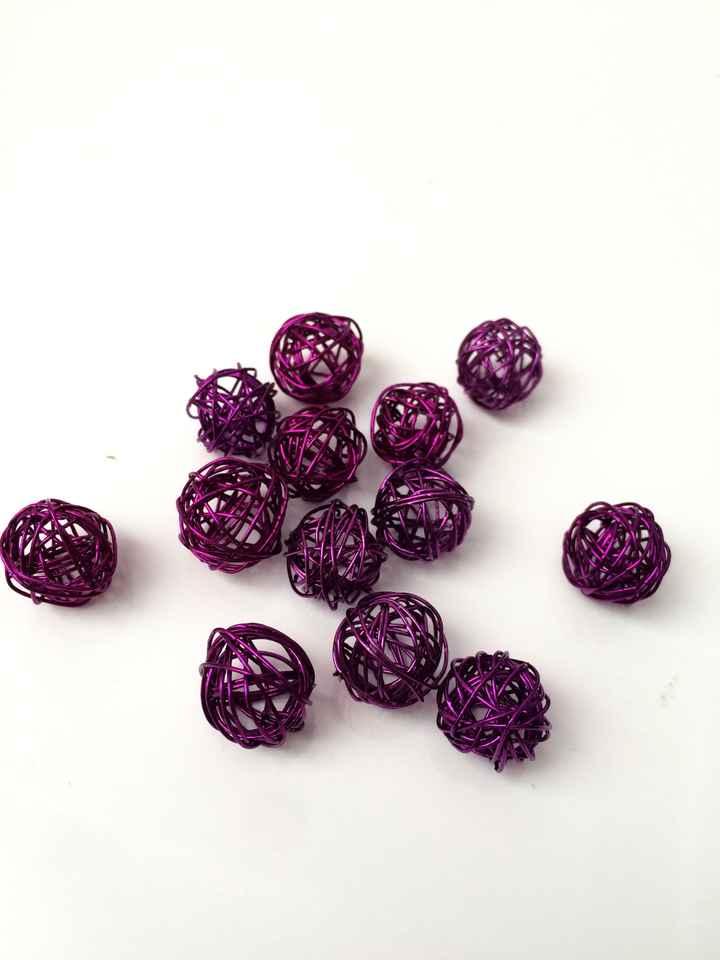 Petites boules d'acier violet (x250 pièces)