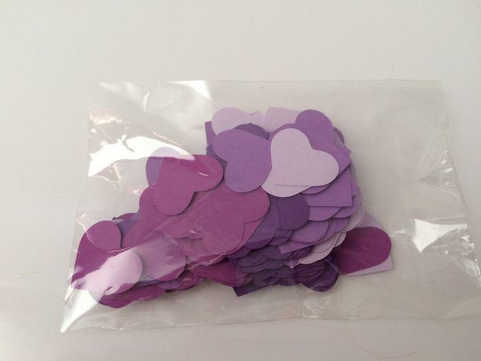 Confettis coeur (non utilisés) (2 sachets de 250 petits coeurs)