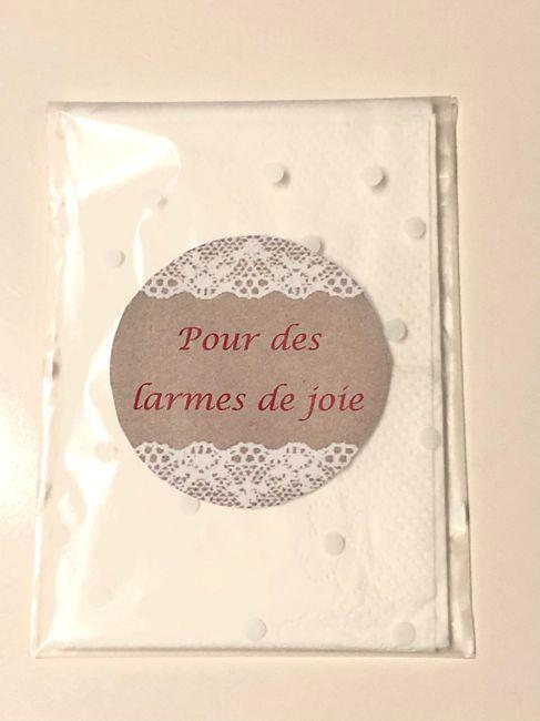 Pochette mouchoir larmes de joie... 1