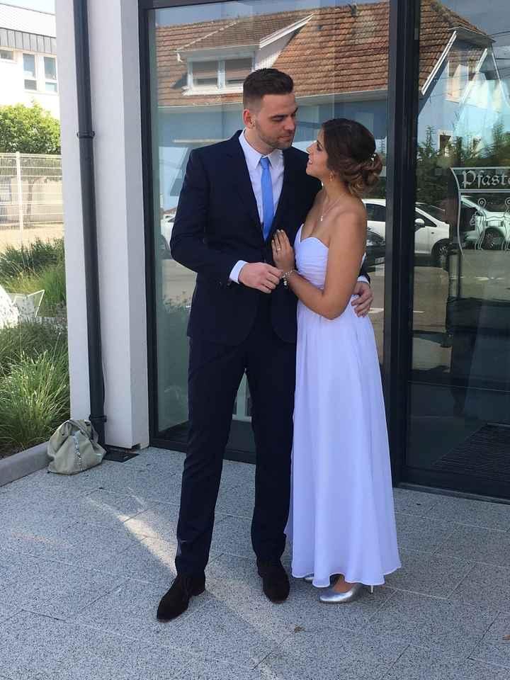 Notre mariage civil le 8 juillet - 1