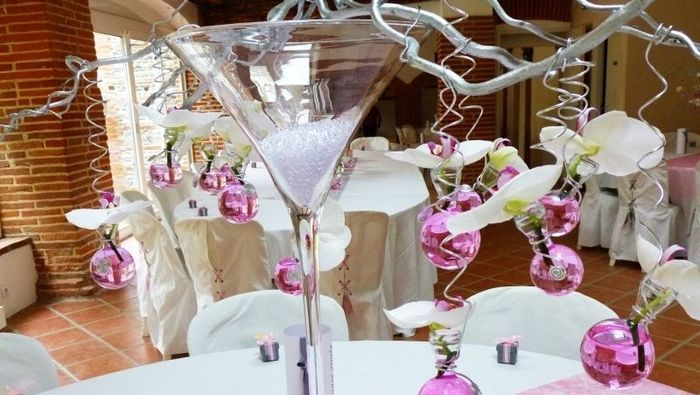 Id e centre de table vase martini qu 39 en pensez vous - Decoration de vase pour mariage ...