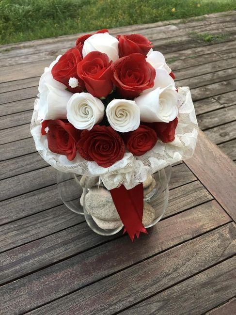 mon bouquet en pâte à sucre