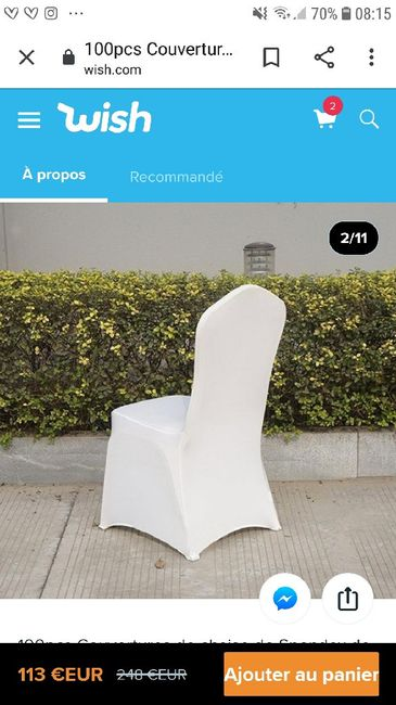 Housse chaise lycra 1