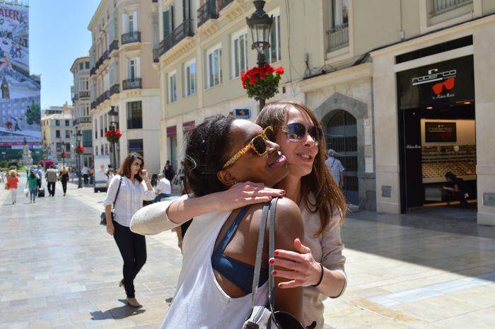 Laurence et Sandrine à Malaga