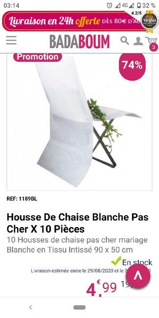 Housses de chaises 2