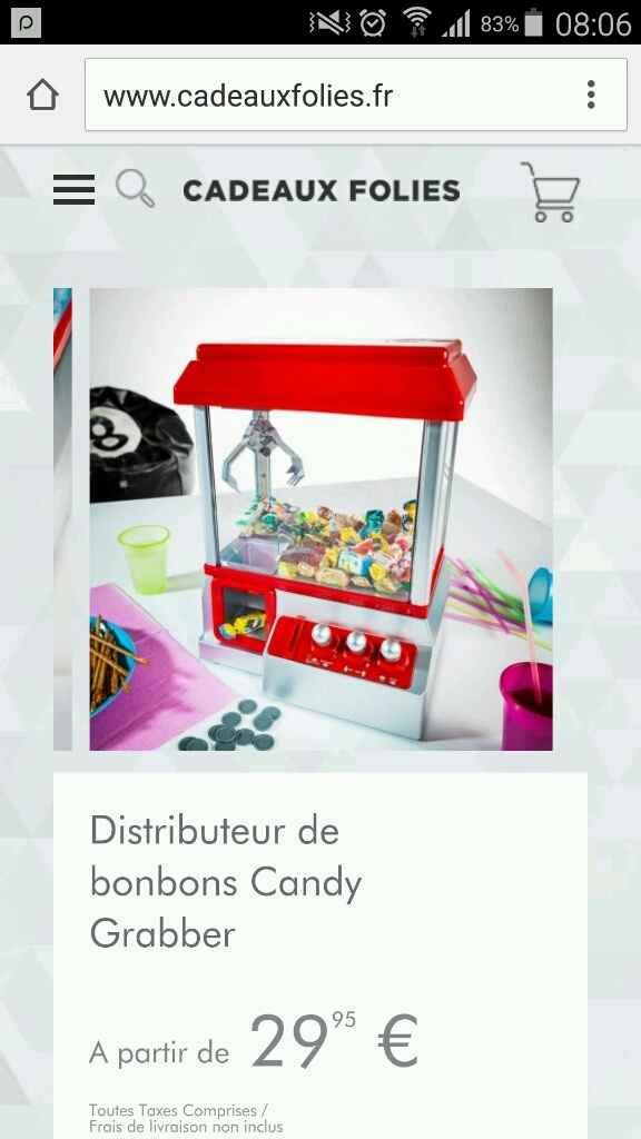 Candy bar organisation - 1