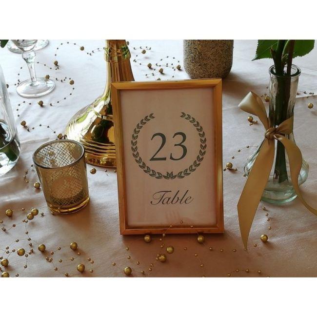 Numéro/Nom de table mariage 13