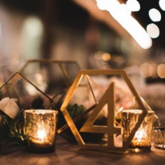Numéro/Nom de table mariage 14
