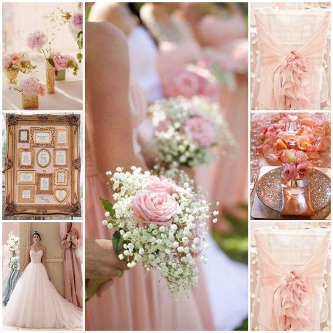 Décoration rose poudré et blanc 7