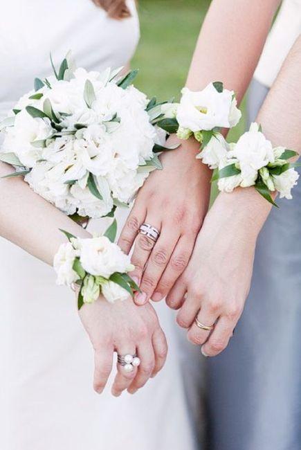 Inspiration : bracelet fleurs pour témoin/ dh - 1