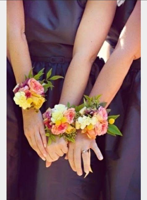 Inspiration : bracelet fleurs pour témoin/ dh - 2