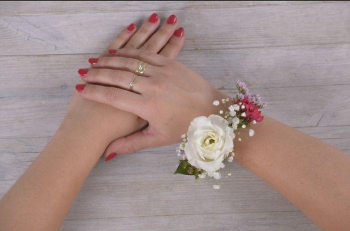 Inspiration  bracelet fleurs pour témoin/ dh , 3