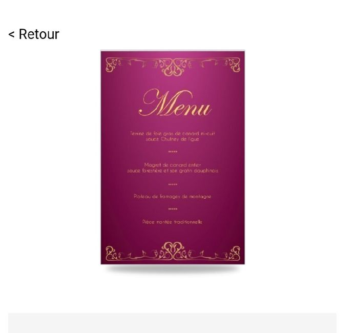 Le menu de ton mariage !  🍽️ - 1