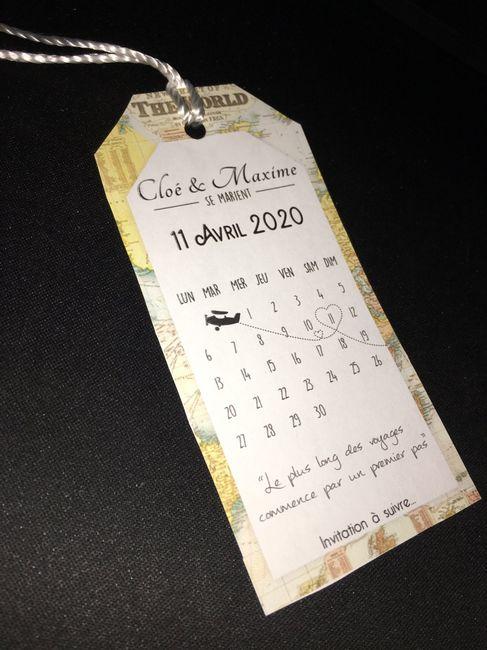 Première ébauche de nos Save The Date (thème voyage). - 1