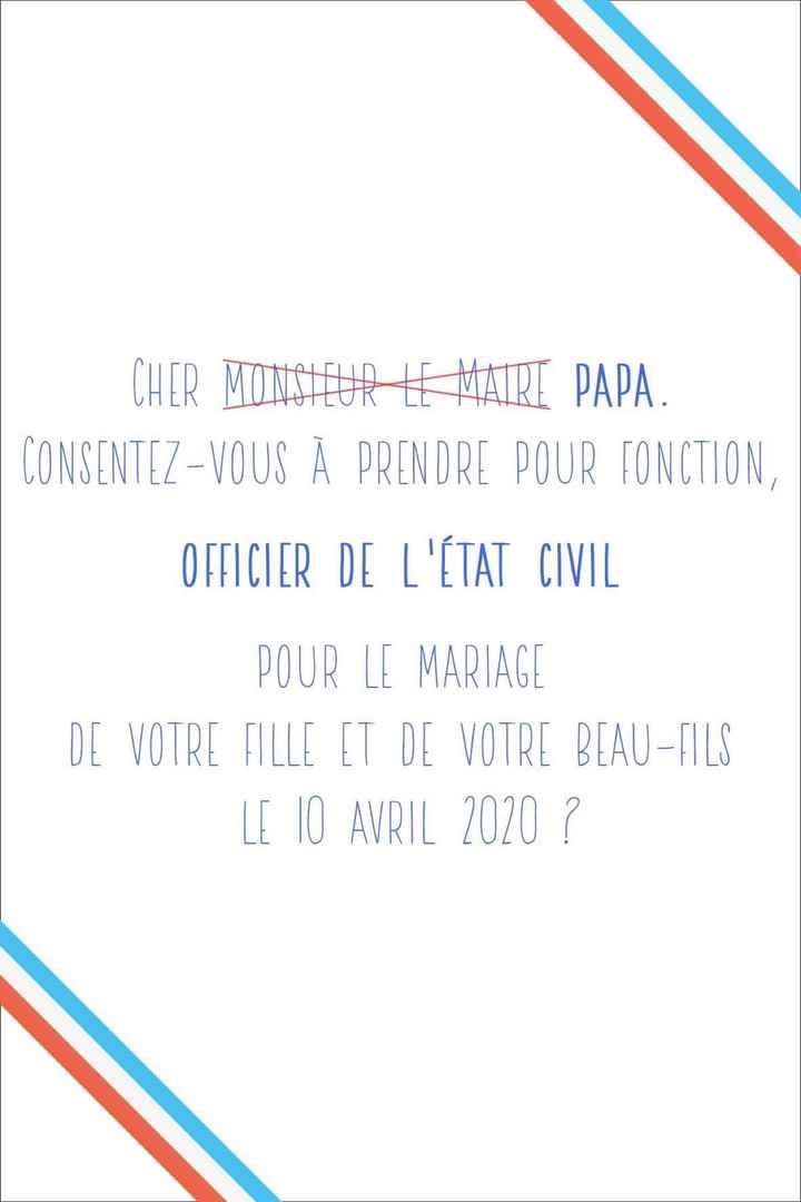 Demande à «monsieur le Maire» - 1